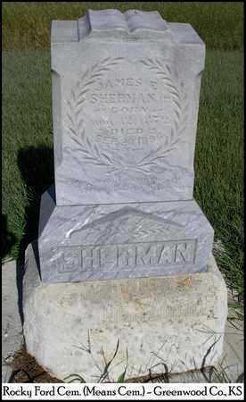 SHERMAN, JAMES EDGAR, JR - Greenwood County, Kansas | JAMES EDGAR, JR SHERMAN - Kansas Gravestone Photos