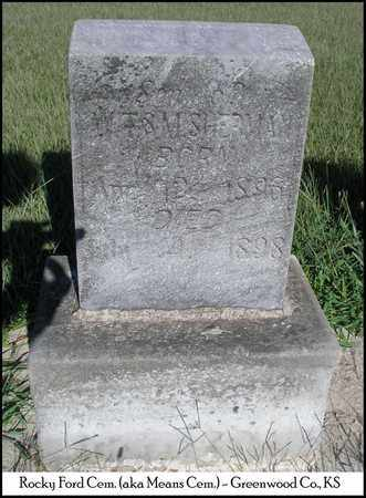 SHERMAN, QUINCEY - Greenwood County, Kansas | QUINCEY SHERMAN - Kansas Gravestone Photos