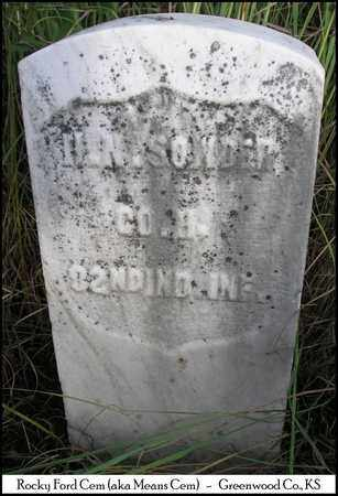 SOWDER, HIRAM N   (VETERAN UNION) - Greenwood County, Kansas   HIRAM N   (VETERAN UNION) SOWDER - Kansas Gravestone Photos