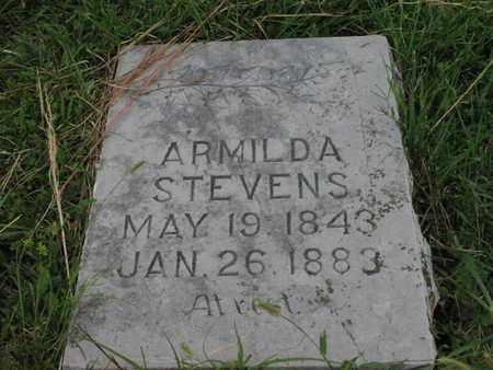 HENDERSON STEVENS, ARMILDA - Greenwood County, Kansas | ARMILDA HENDERSON STEVENS - Kansas Gravestone Photos