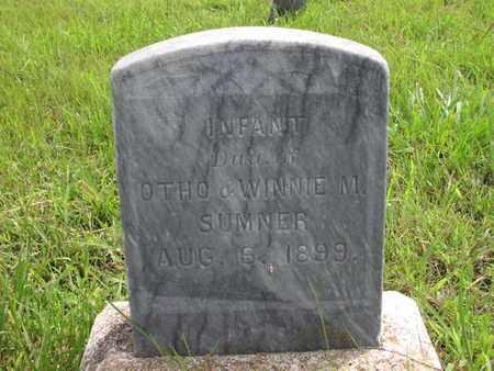 SUMNER, INFANT DAUGHTER - Greenwood County, Kansas | INFANT DAUGHTER SUMNER - Kansas Gravestone Photos
