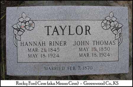 TAYLOR, HANNAH - Greenwood County, Kansas | HANNAH TAYLOR - Kansas Gravestone Photos