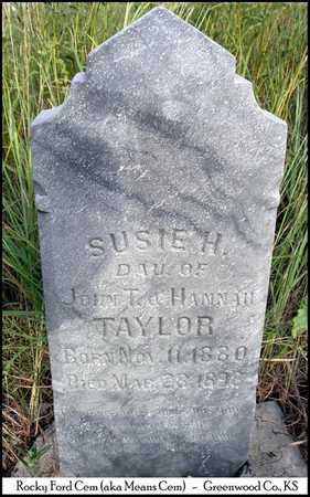 TAYLOR, SUSIE HESTER - Greenwood County, Kansas | SUSIE HESTER TAYLOR - Kansas Gravestone Photos
