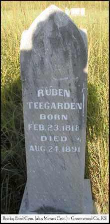 TEEGARDEN, RUBEN - Greenwood County, Kansas | RUBEN TEEGARDEN - Kansas Gravestone Photos