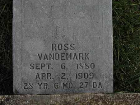 VANDEMARK, ROSS - Greenwood County, Kansas   ROSS VANDEMARK - Kansas Gravestone Photos