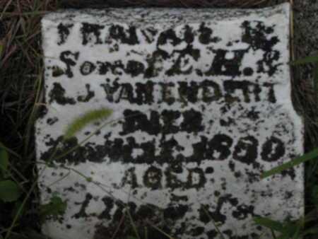 VANENDERT, FRANK - Greenwood County, Kansas   FRANK VANENDERT - Kansas Gravestone Photos