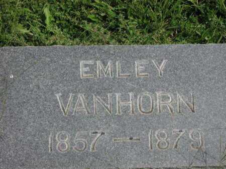 VANHORN, EMLEY - Greenwood County, Kansas | EMLEY VANHORN - Kansas Gravestone Photos