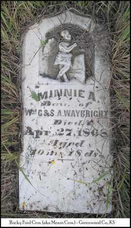 WAYBRIGHT, MINNIE A - Greenwood County, Kansas   MINNIE A WAYBRIGHT - Kansas Gravestone Photos