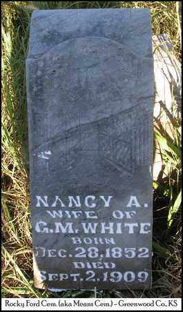 WHITE, NANCY ANN - Greenwood County, Kansas   NANCY ANN WHITE - Kansas Gravestone Photos