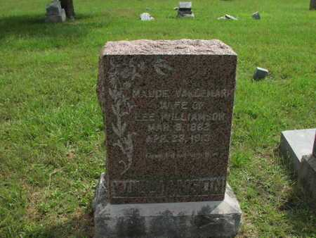 VANDEMARK WILLIAMSON, MAUDE - Greenwood County, Kansas | MAUDE VANDEMARK WILLIAMSON - Kansas Gravestone Photos