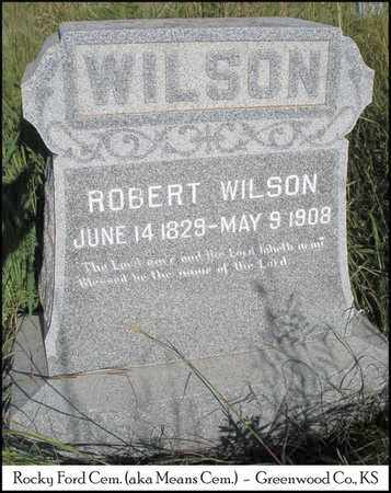 WILSON, ROBERT - Greenwood County, Kansas   ROBERT WILSON - Kansas Gravestone Photos