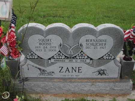 "ZANE, SQUIRE ""BOONE"" - Greenwood County, Kansas | SQUIRE ""BOONE"" ZANE - Kansas Gravestone Photos"