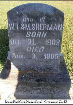 SHERMAN, SADIE - Greenwood County, Kansas | SADIE SHERMAN - Kansas Gravestone Photos