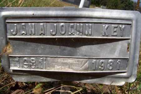 KEY, JANA JOANN - Greenwood County, Kansas | JANA JOANN KEY - Kansas Gravestone Photos