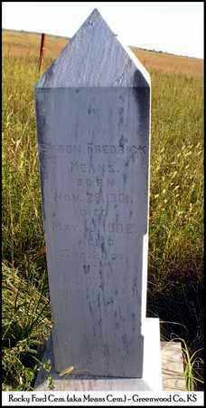 MEANS, BYRON FREDRICK - Greenwood County, Kansas | BYRON FREDRICK MEANS - Kansas Gravestone Photos