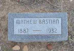 BASTIAN, MATHEW THOMAS - Hamilton County, Kansas | MATHEW THOMAS BASTIAN - Kansas Gravestone Photos