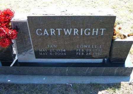 "CARTWRIGHT, JACQUELYN RUTH ""JAN"" - Hamilton County, Kansas | JACQUELYN RUTH ""JAN"" CARTWRIGHT - Kansas Gravestone Photos"