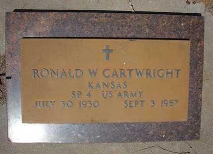 CARTWRIGHT  , RONALD WYNER  (VETERAN) - Hamilton County, Kansas   RONALD WYNER  (VETERAN) CARTWRIGHT   - Kansas Gravestone Photos