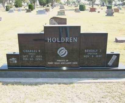 "HOLDREN, CHARLES R  ""DICK"" - Hamilton County, Kansas   CHARLES R  ""DICK"" HOLDREN - Kansas Gravestone Photos"