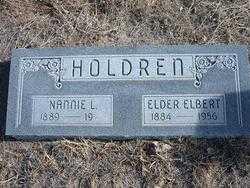 HOLDREN, NANNIE - Hamilton County, Kansas | NANNIE HOLDREN - Kansas Gravestone Photos