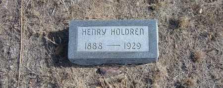 HOLDREN, HENRY - Hamilton County, Kansas   HENRY HOLDREN - Kansas Gravestone Photos