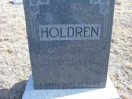 HOLDREN, MATTIE E - Hamilton County, Kansas | MATTIE E HOLDREN - Kansas Gravestone Photos