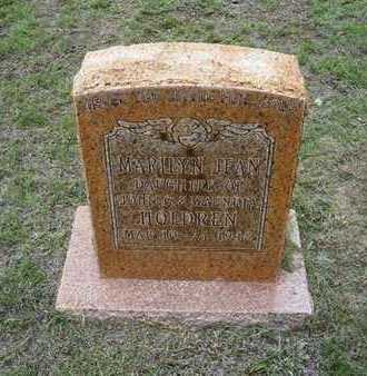 HOLDREN, MARILYN JEAN - Hamilton County, Kansas   MARILYN JEAN HOLDREN - Kansas Gravestone Photos