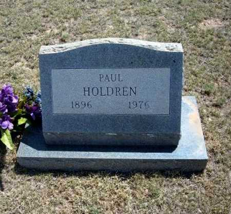 HOLDREN, PAUL - Hamilton County, Kansas | PAUL HOLDREN - Kansas Gravestone Photos