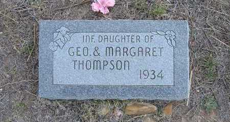 THOMPSON, INFANT DAUGHTER - Hamilton County, Kansas | INFANT DAUGHTER THOMPSON - Kansas Gravestone Photos