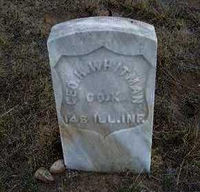 WHITMAN  , GEORGE H  (VETERAN UNION) - Hamilton County, Kansas   GEORGE H  (VETERAN UNION) WHITMAN   - Kansas Gravestone Photos