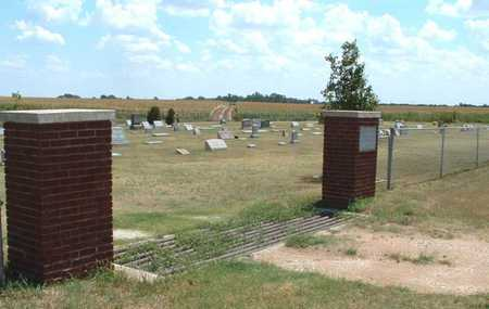 *GATE AND OVERVIEW,  - Harper County, Kansas |  *GATE AND OVERVIEW - Kansas Gravestone Photos