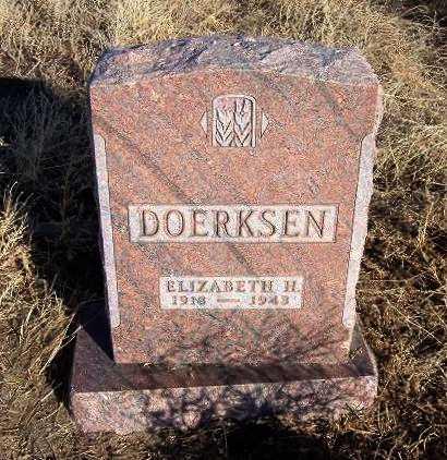 DOERKSEN, ELIZABETH H - Haskell County, Kansas   ELIZABETH H DOERKSEN - Kansas Gravestone Photos