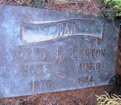 FENTON, FRED E - Haskell County, Kansas | FRED E FENTON - Kansas Gravestone Photos