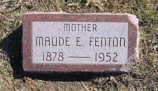 FENTON, MAUDE E - Haskell County, Kansas | MAUDE E FENTON - Kansas Gravestone Photos