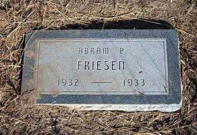 FRIESEN, ABRAM P - Haskell County, Kansas   ABRAM P FRIESEN - Kansas Gravestone Photos