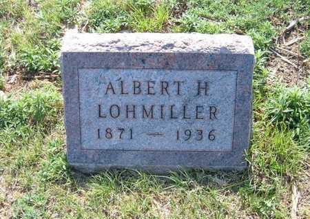 LOHMILLER, ALBERT H - Haskell County, Kansas   ALBERT H LOHMILLER - Kansas Gravestone Photos