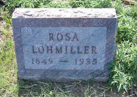 LOHMILLER, ROSA - Haskell County, Kansas   ROSA LOHMILLER - Kansas Gravestone Photos