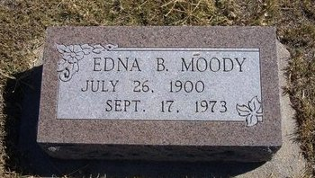 MOODY, EDNA B - Haskell County, Kansas | EDNA B MOODY - Kansas Gravestone Photos