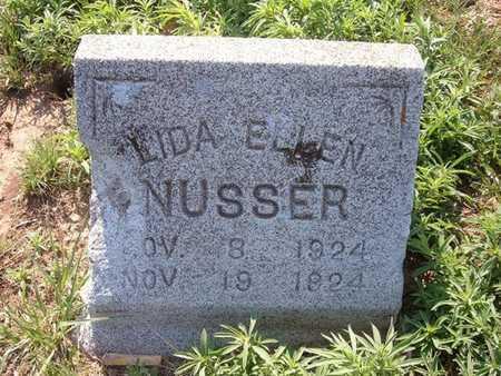 NUSSER, LIDA ELLEN - Haskell County, Kansas   LIDA ELLEN NUSSER - Kansas Gravestone Photos