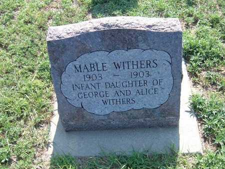 WITHERS, MABLE - Haskell County, Kansas   MABLE WITHERS - Kansas Gravestone Photos
