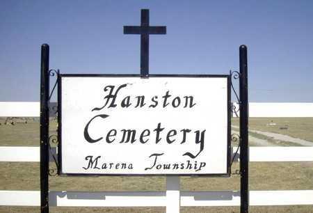 *SIGN, HANSTON CEMETERY - Hodgeman County, Kansas | HANSTON CEMETERY *SIGN - Kansas Gravestone Photos