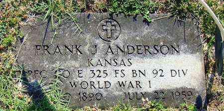 ANDERSON, FRANK J  (VETERAN WWI) - Jackson County, Kansas | FRANK J  (VETERAN WWI) ANDERSON - Kansas Gravestone Photos