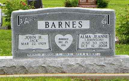 JOHNSON BARNES, ALMA JEANNE - Jackson County, Kansas | ALMA JEANNE JOHNSON BARNES - Kansas Gravestone Photos