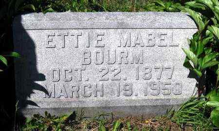 BOURM, ETTIE MABEL - Jackson County, Kansas   ETTIE MABEL BOURM - Kansas Gravestone Photos