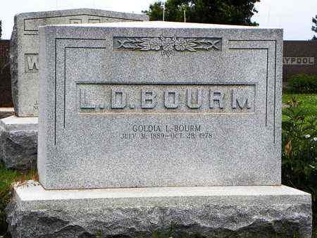 BOURM, GOLDIA L - Jackson County, Kansas | GOLDIA L BOURM - Kansas Gravestone Photos