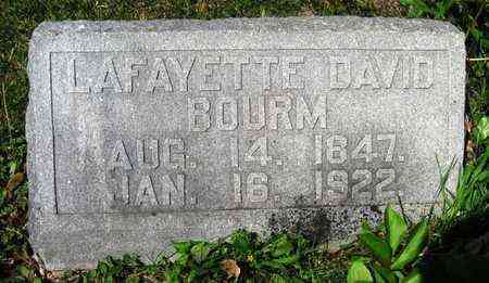 BOURM, LAFAYETTE DAVID - Jackson County, Kansas | LAFAYETTE DAVID BOURM - Kansas Gravestone Photos