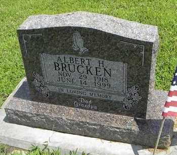 BRUCKEN, ALBERT H - Jackson County, Kansas | ALBERT H BRUCKEN - Kansas Gravestone Photos