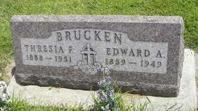 BRUCKEN, EDWARD A - Jackson County, Kansas | EDWARD A BRUCKEN - Kansas Gravestone Photos