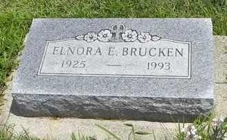 BRUCKEN, ELNORA F - Jackson County, Kansas | ELNORA F BRUCKEN - Kansas Gravestone Photos