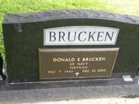 BRUCKEN, DONALD E  (VETERAN VIET) - Jackson County, Kansas   DONALD E  (VETERAN VIET) BRUCKEN - Kansas Gravestone Photos